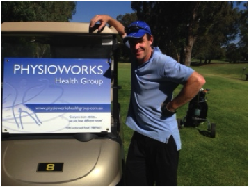 David Francis, with his Physioworks cart